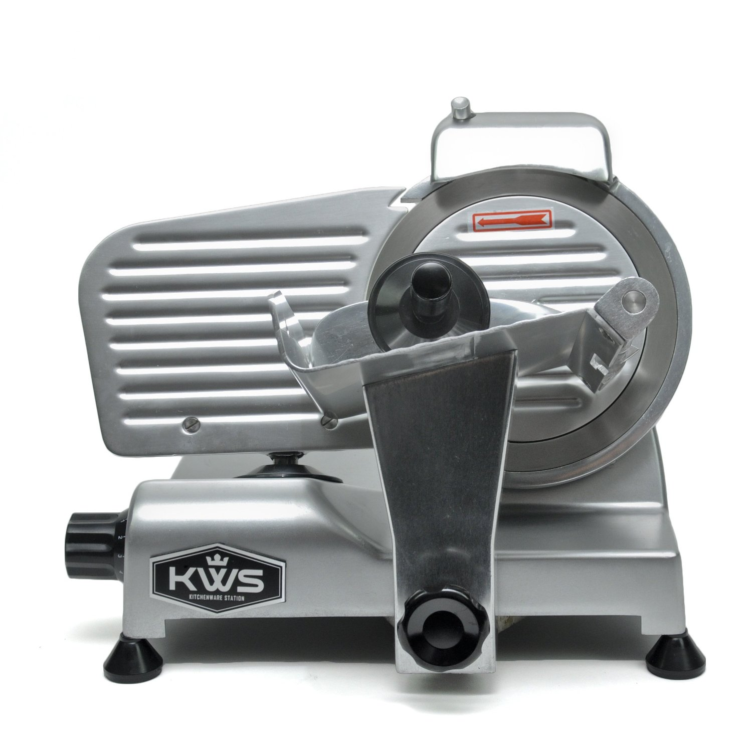 Ms 6ns 6 200w Meat Slicer Silver Base With Stainless